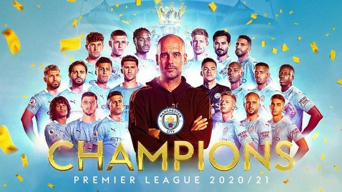 Manchester City Juara Liga Premier Inggris 2020/2021