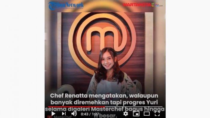 VIDEO Mantan Anggota JKT48 Yuri Menangis Terdepak dari Ajang MasterChef Indonesia Season 7