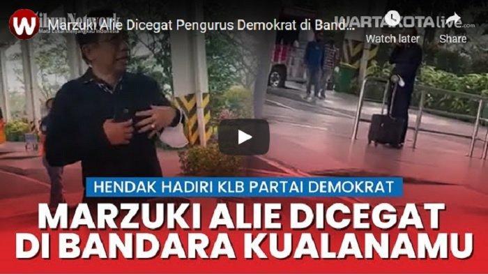 VIDEO Marzuki Alie Dicegat Pengurus Demokrat di Bandara Kualanamu Medan, Akui Ingin Hadiri KLB