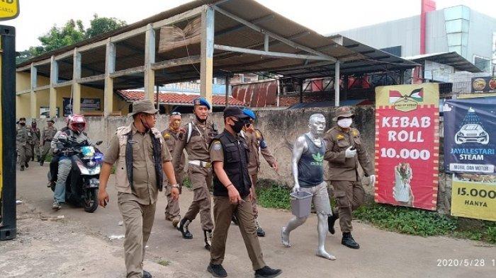Ganggu Ketertiban Umum, Manusia Silver dan Gepeng Dirazia Satpol PP Kota Tangsel