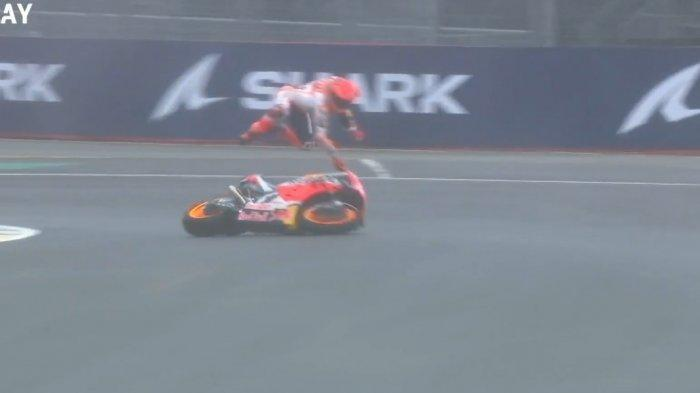 Marc Marquez Apes di MotoGP Prancis, Ia Jatuh Sampai 2 Kali Meski Masih Tempati Urutan Ke-enam