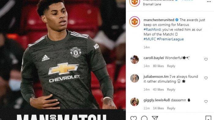 Marcus Rashford Man Of The Match saat MU Kalahkan Sheffield United 3-2, Pogba Rating Tertinggi
