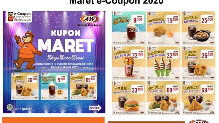 Cobain! 5 Menu Terbaru A&W Restoran Indonesia Hingga Promo Lewat Maret e-Coupon 2020