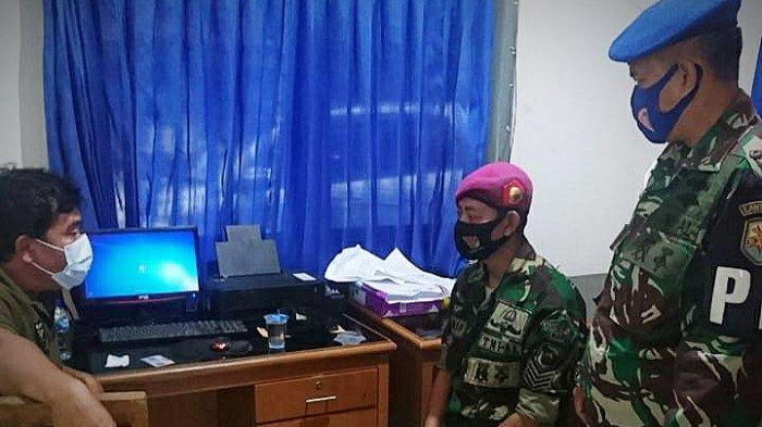 Anggota Marinir gadungan diamankan Tim Gabungan Lanal Bandung bekerjasama dengan Kodim 0622 dan BIN Kabupaten Sukabumi di Sukabumi, pada Jumat (1/1/2021).