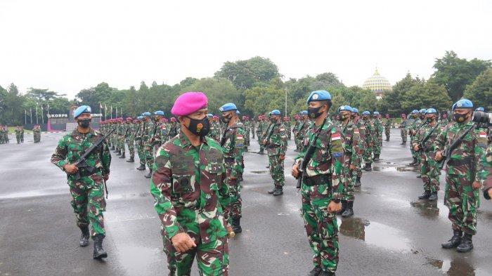 Dankormar Cek Kesiapan 89 Personel Korps Marinir Yang Emban Misi Perdamaian Di Kongo