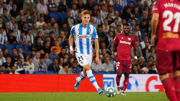 Martin Odegaard saat bermain di La Real dan membawa timnya ke final Copa Del Rey 2020 yang belum di pertandingkan karena pandemi Covid-19