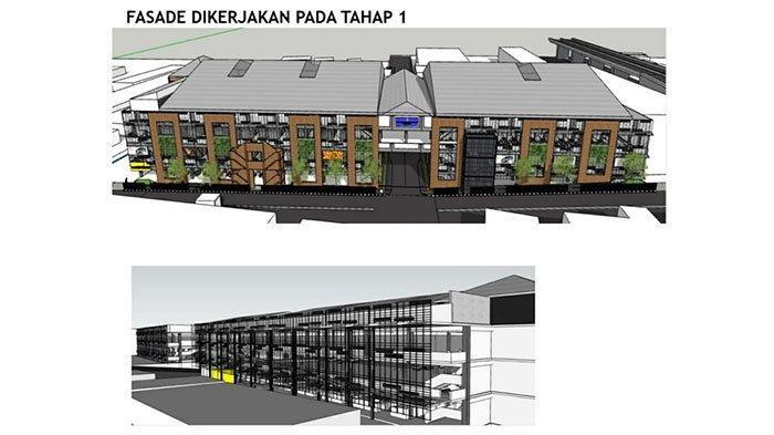 Master plan desain Gedung A dan B Pasar Ciputat pada tahap pertama revitalisasi.