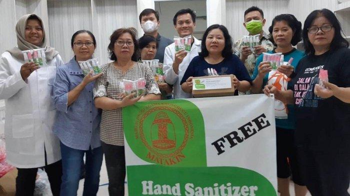 Turut Prihatin Meluasnya Wabah Corona, MATAKIN Bagikan Gratis Spray Pembersih Tangan