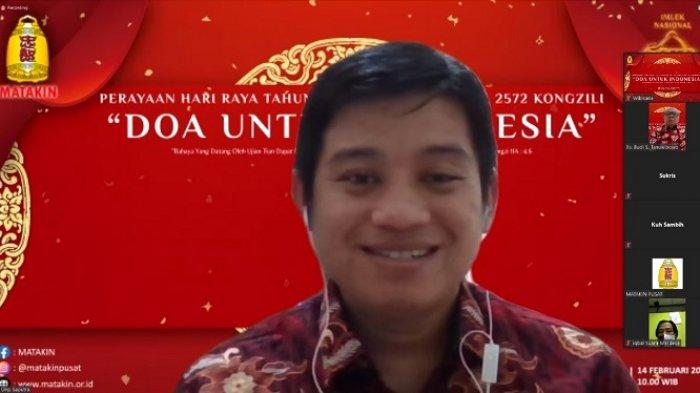 Ketua Panitia Perayaan Tahun Baru Imlek Nasional 2572 Kongzili MATAKIN, Ws Urip Saputra.