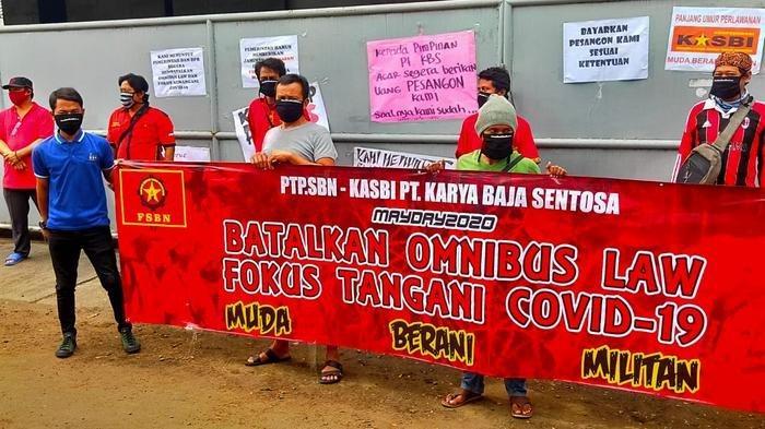 May Day Buruh Tangerang Luapkan Harapannya di Tengah Pandemi, Ini Permintaan Mereka