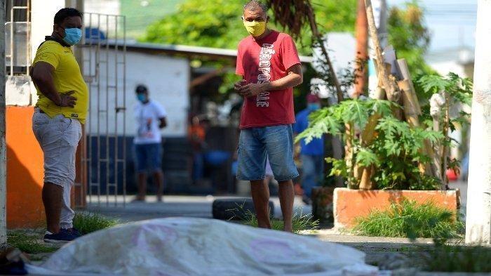 Ngeri, 300 Jenazah Covid-19 Tergeletak di Jalanan Ekuador, Kontainer Jadi Kamar Mayat Darurat