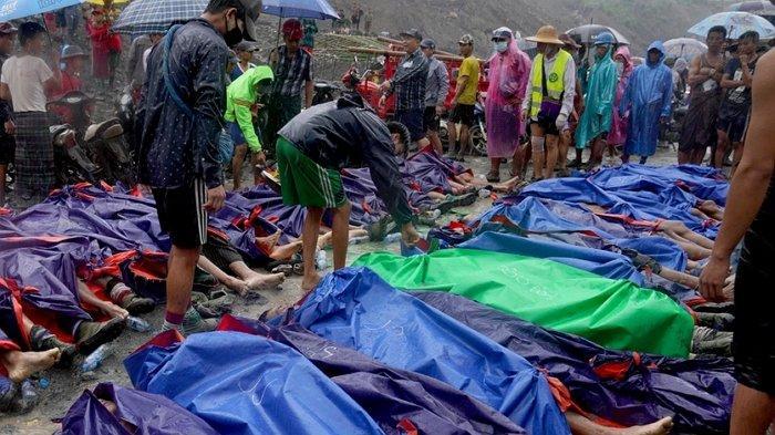 Korban Tewas di Area Penambangan Batu Giok Myanmar Bertambah Jadi 166 Orang