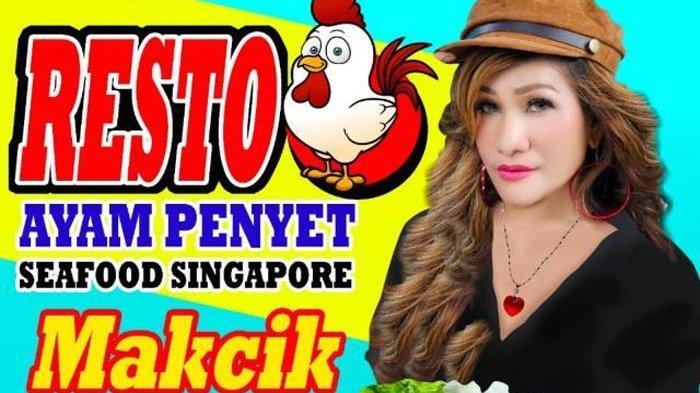 Pedangdut Singapura Mega Makcik Buka Resto Ayam Penyet Makcik