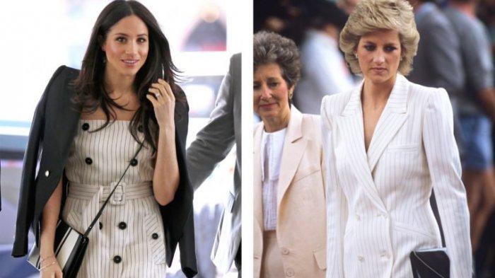 Ketika Gaya Berbusana Meghan Markle 9 Kali Menyerupai Ibu Mertua Putri Diana