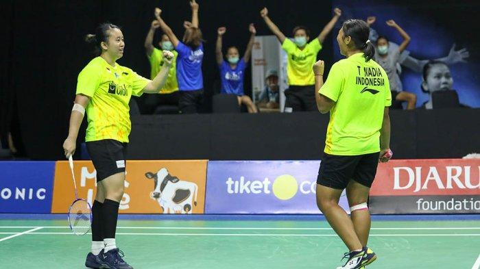 Melani Mamahit/Tryola Nadia menjadi penentu kemenangan tim Rajawali atas tim Harimau