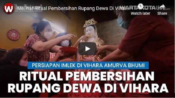 VIDEO Ritual Pembersihan Rupang Dewa di Vihara Amurva Bhumi Menjelang Perayaan Imlek