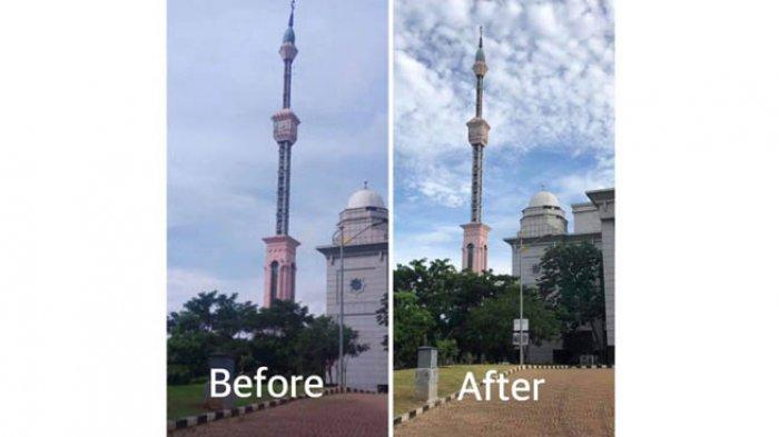 Komunitas Jagat Mengaji Perbaiki Menara Masjid Jakarta Islamic Centre yang Miring