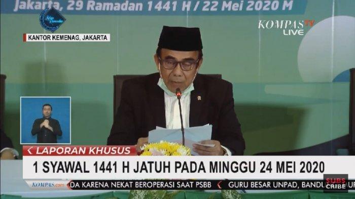 BREAKING NEWS: Sidang Isbat Menetapkan Idul Fitri 1441 Hijriah Jatuh pada Minggu 24 Mei 2020