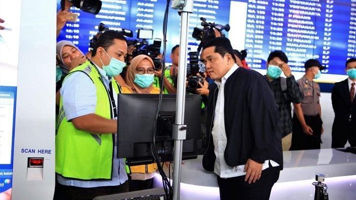 Erick Tohir: Pengawasan Suhu Badan di Bandara Soekarno Hatta Minimalisir Penyebaran Virus Corona