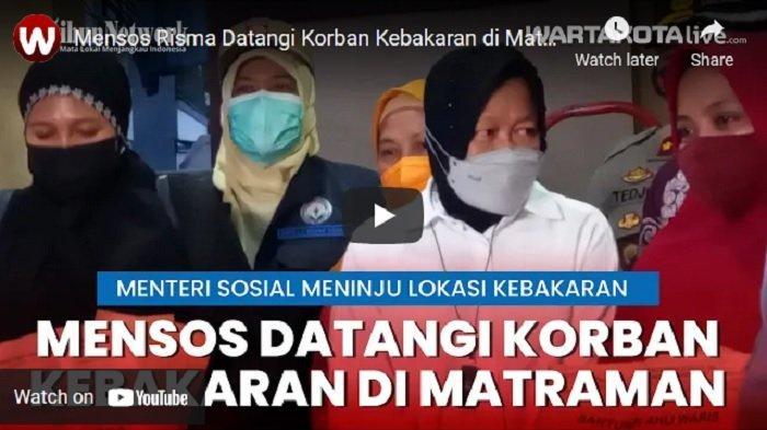 VIDEO Mensos Risma Datangi Korban Kebakaran di Matraman Jakarta Timur dan Beri Santunan