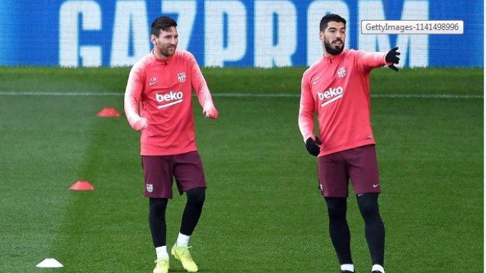 STARTING XI Barcelona vs Atletico Madrid, Setien Hanya Pasang Messi dan Suarez, Ubah Formasi?