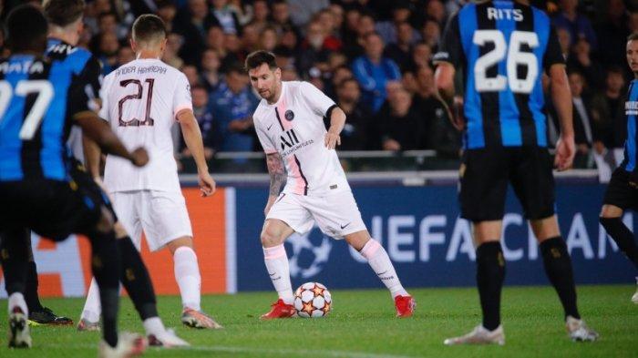 PSG Ditahan Club Brugge di Babak Pertama 1-1, Messi Nyaris Cetak Gol Kedua, Belum Berdampak