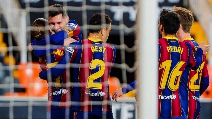 Barcelona Bekuk Valencia 3-2 dan Freekick ke-50 Lionel Messi, Persaingan Perebutan Gelar Kian Panas