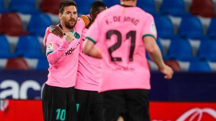 Babak Pertama Levante vs Barcelona 0-2, Gol Messi dan Pedri, Barca Ambil Alih Puncak Klasemen?