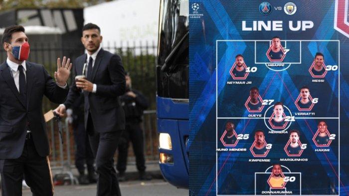Sedang Berlangsung Manchester City vs PSG, Adu Trisula, Messi Starter Bersama Neymar dan Mbappe