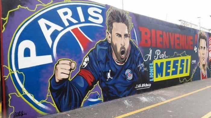 Demam Messimania Melanda Prancis, Setelah Pembangunan Karya Seni Mural Sepanjang 18 Meter di Paris