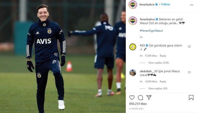 Mesut Ozil Mulai Latihan Bersama Fenerbahce, Bos Klub Ajak Suporter Ikut Bayari Transfer Ozil