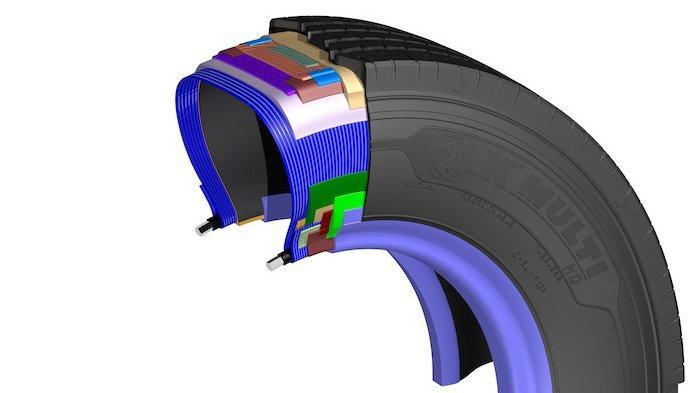 Tampak bagian dalam ban Michelin X Multi HD Z diklaim tahan lama