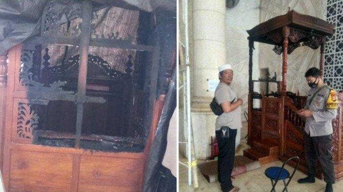Pria Pembakar Mimbar Masjid Raya di Makassar Ditangkap dan Diikat Ditiang, JK Minta Tak Terprovokasi