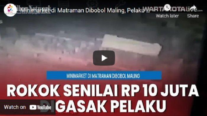 VIDEO Kawanan Maling Bobol Plafon Minimarket di Matraman, Pelaku Gasak Rokok Seniali Rp 10 Juta
