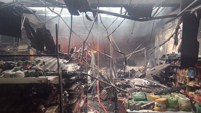Penyebab Toko Minimarket di Cileungsi Ludes Terbakar Diduga Akibat Korsleting Listrik