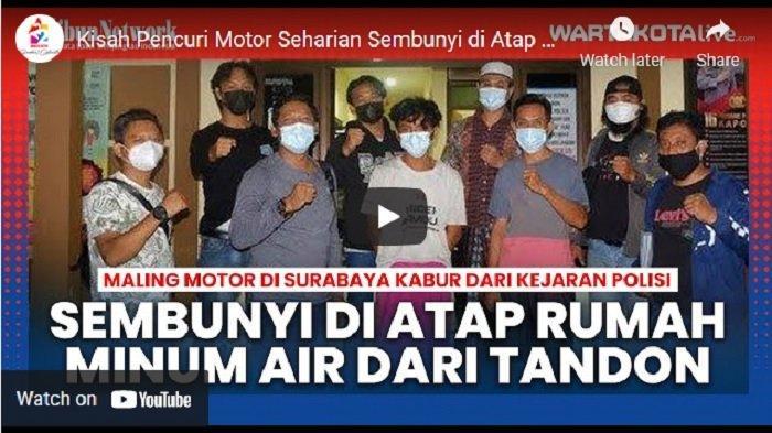 VIDEO Kisah Pencuri Motor Seharian Sembunyi di Atap Rumah Warga, Tanpa Makan Cuma Minum Air Tandon