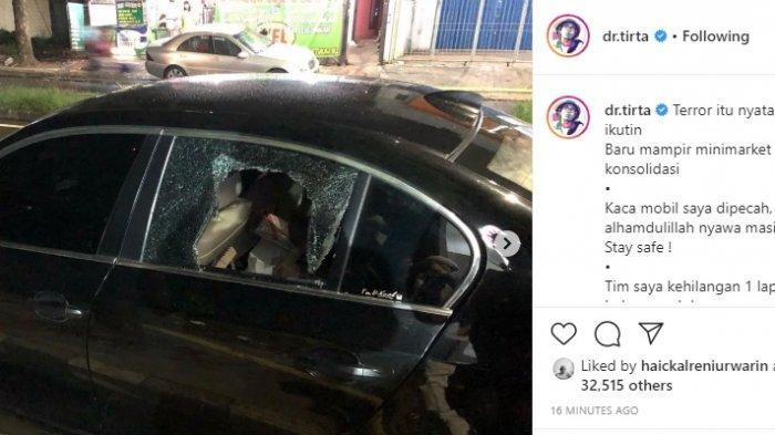 Dokter Tirta Kemalingan, Kaca Mobil Dipecah, Beberapa Dokumen dan Laptop Raib