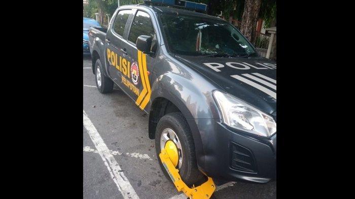 Mobil Patroli Polisi Digembok, Petugas Dishub Dapat Pujian, Polisi Lebih Memilih Minta Maaf