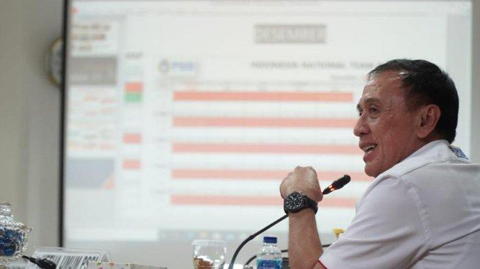 Ketum PSSI saat memaparkan roadmap timnas didepan Menpora Zainudin Amali