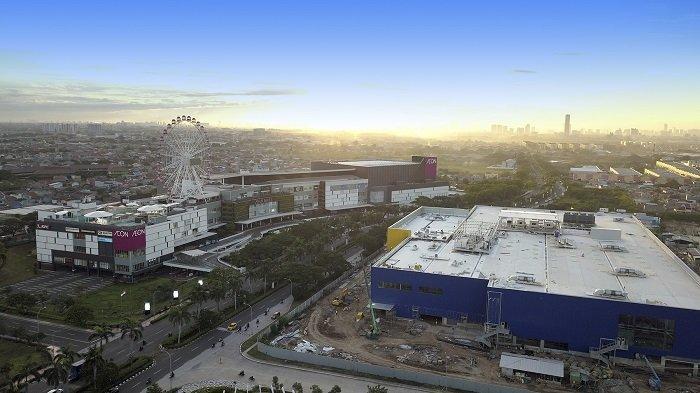 Perkembangan kawasan Jakarta Garden City tampak dari atas.