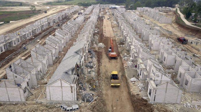 Progress pembangunan kawasan proyek hunian berskala kota (township) Modernland Cilejit (1000 ha), Tangerang, Banten.