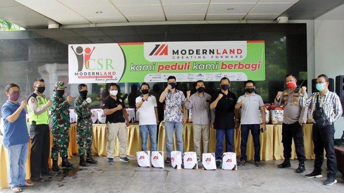 PT Modernland Realty Tbk Salurkan Bantuan Sembako Bagi Masyarakat Terdampak Covid-19