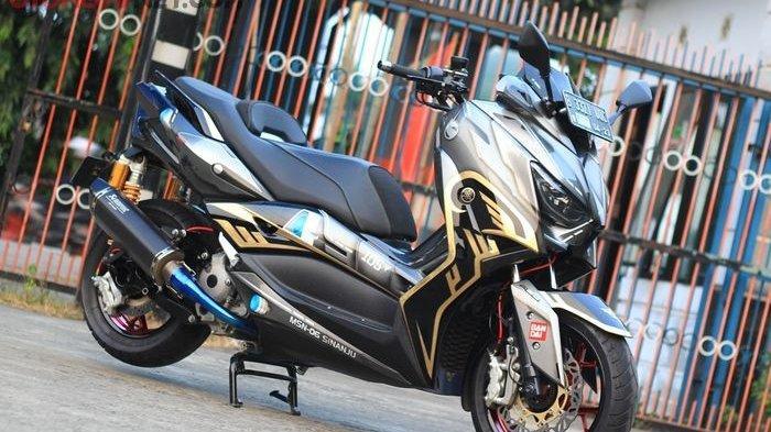 Modifikasi Yamaha XMAX Berkonsep Simpel Elegan Rogoh Biaya Rp 70 Juta, Mesin Diupgrade Jadi 300 CC