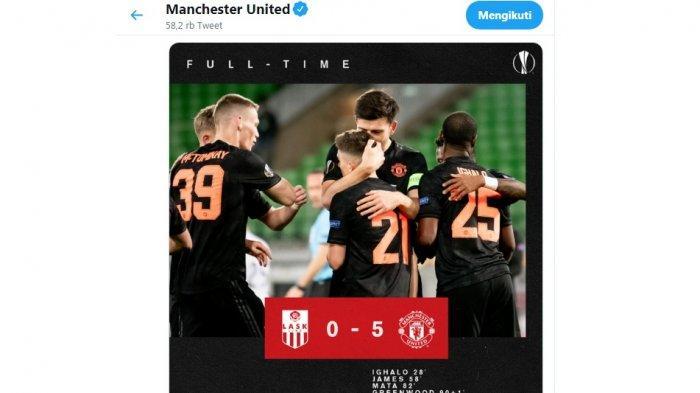 Hasil Akhir Lask Link vs Manchester United 0-5, Ini Lima Pemain MU yang Lakukan Pesta Gol