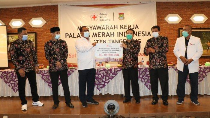 Gelar Musyawarah Kerja PMI Kabupaten Tangerang Genjot Donor Darah Milenial Melalui Aplikasi Sidoni