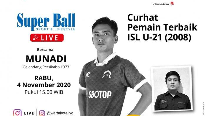 Gelandang Tira Persikabo Munadi Berbagi Kisah dalam Super Ball Live, Rabu (4/11/2020)