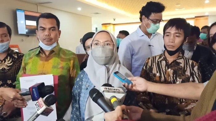 Muswira Jusuf Kalla melaporkan Ferdinand Hutahean ke Bareskrim Polri, Rabu (2/12/2020) (Tribunnews)