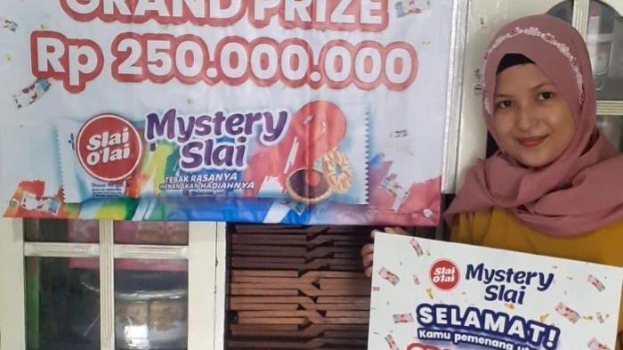 Akun Instagram Slai Olai @slaiolai_rame mengumumkan pemenang kuis yang berhak mendapatan hadiah uang Rp 250 juta pada 28 Mei 2021.