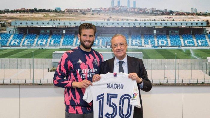 Bek Real Madrid Nacho Fernandez memperpanjang kontrak bermainnya di klub Real Madrid