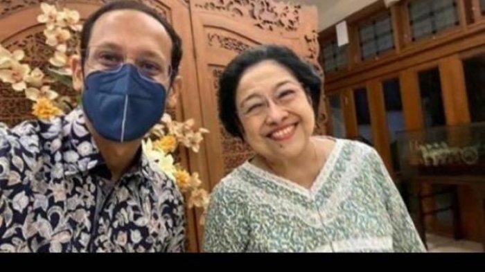 Di Tengah Isu Reshuffle Kabinet, Nadiem Temui Megawati di Rumahnya